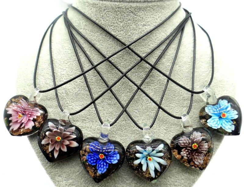 Cristal de cuarzo de moda Multi-Color coloreado Glaze Glass loose charm fabricación de joyería de colgantes collar accesorios al por mayor A9