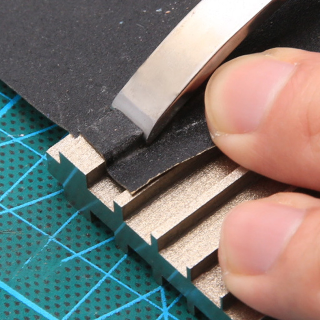 Sharpening Tool Sharpening Block For Leather Craft Edge Skiving Beveler, Leather Tool