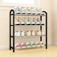 34 tier shoe rack adjustable fabric shoe shelf storage organizer non slip metal closet entryway bedroom footwear organizer