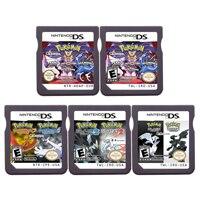 Ds vídeo game cartucho console cartão compilação pokeon black2 white2 heartgold soulsilver 2 em 1 para nintendo ds 3ds 2ds