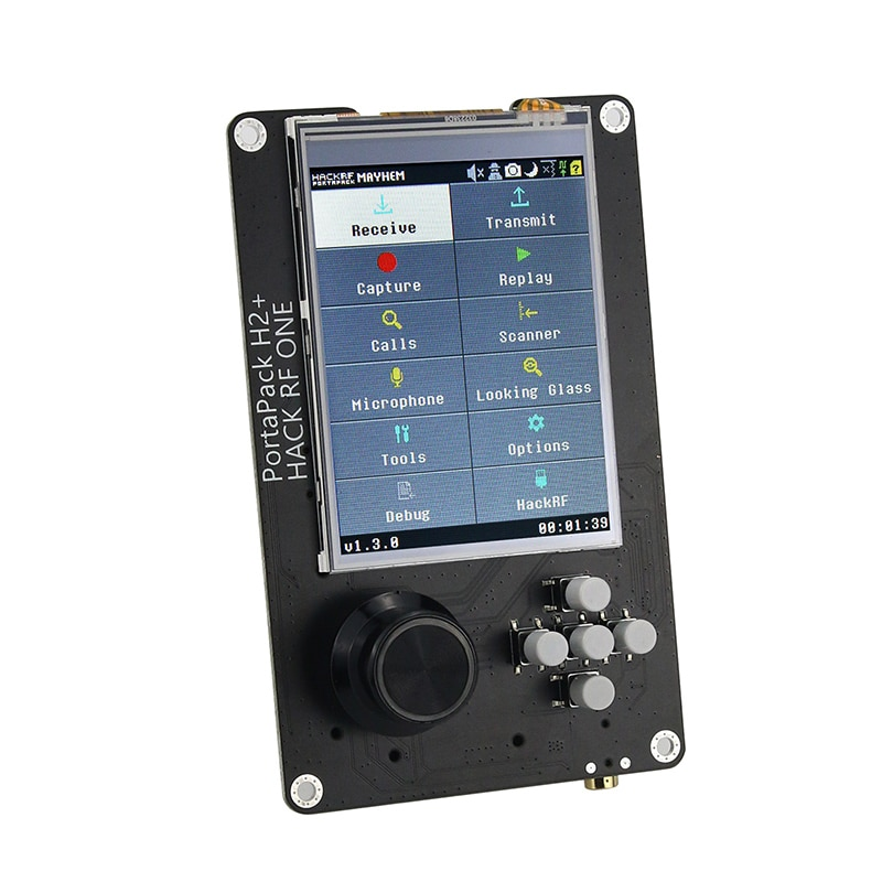 PortaPack H2  3.2 Touch Screen 0.5PPM TCXO Clock For HackRF One SDR Transceiver With battery tcxo clock clk ppm 0 1 tcxo clock oscillator module for hackrf one sdr aluminum shell case