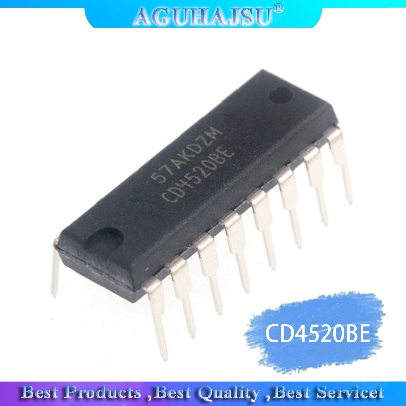 Lote de 10 unidades CD4520 CD4520BE DIP-16, contador binario dual de 4 bits, nuevo original