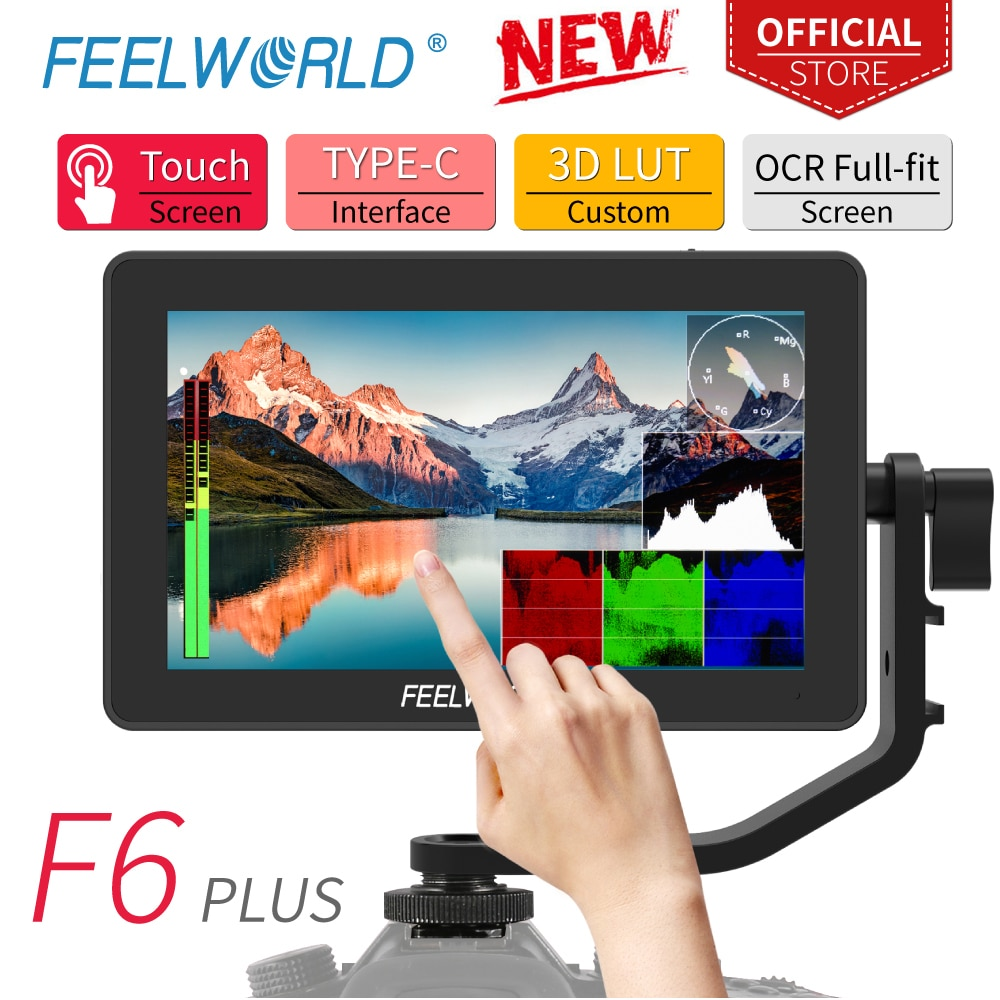 FEELWORLD F6 PLUS 5.5 Inch on Camera DSLR Field Monitor 3D LUT Touch Screen IPS FHD 1920x1080 Video
