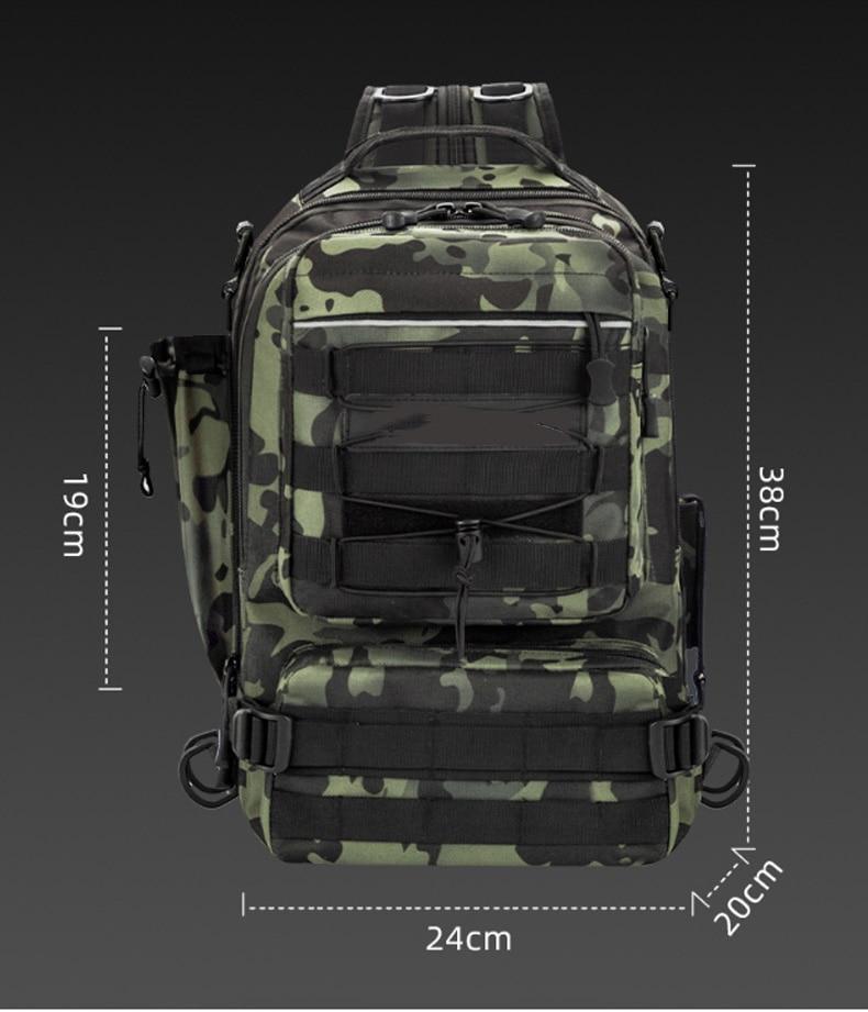 Crossbody Multifunction Fishing Bag Waterproof Tactical Backpack Climbing Outdoor Shoulder Sports Chest Bag For Men Women  X392G enlarge