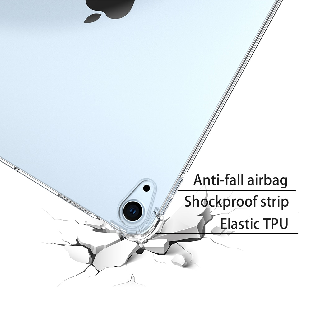 8th-Generation Shockproof iPad Transparent Silicone-Case Back-Cover Bumper Apple