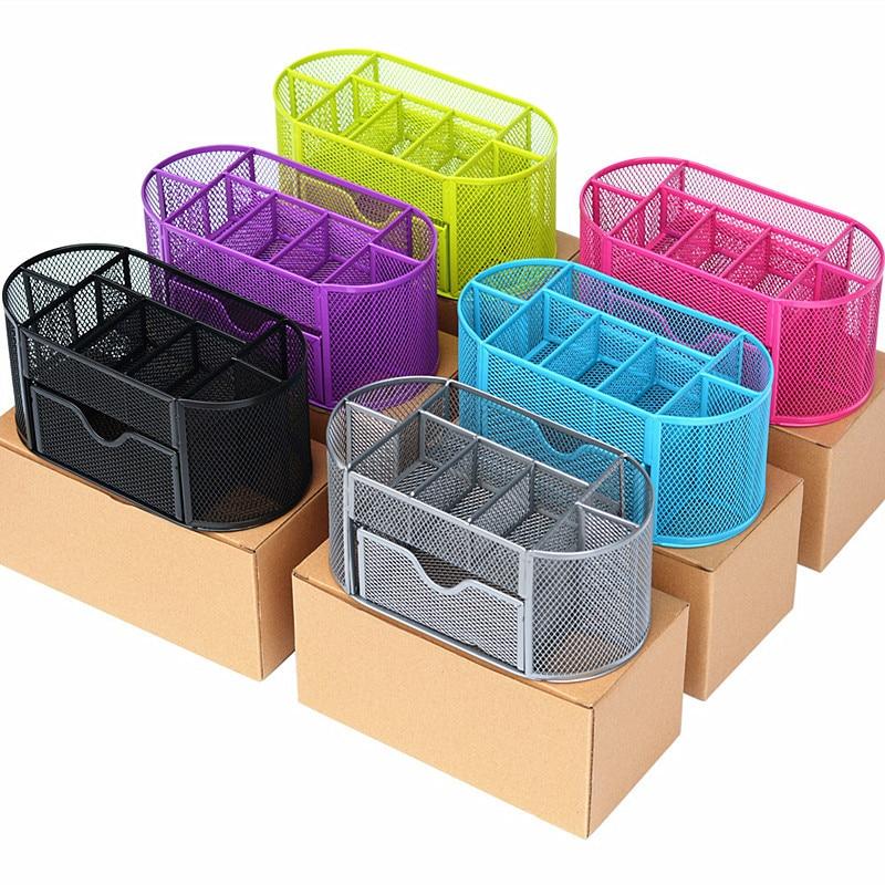 Металлический органайзер для штрафов, сетчатый Настольный органайзер, стол, 9 ячеек, дизайнерский ящик для хранения, предмет интерьера