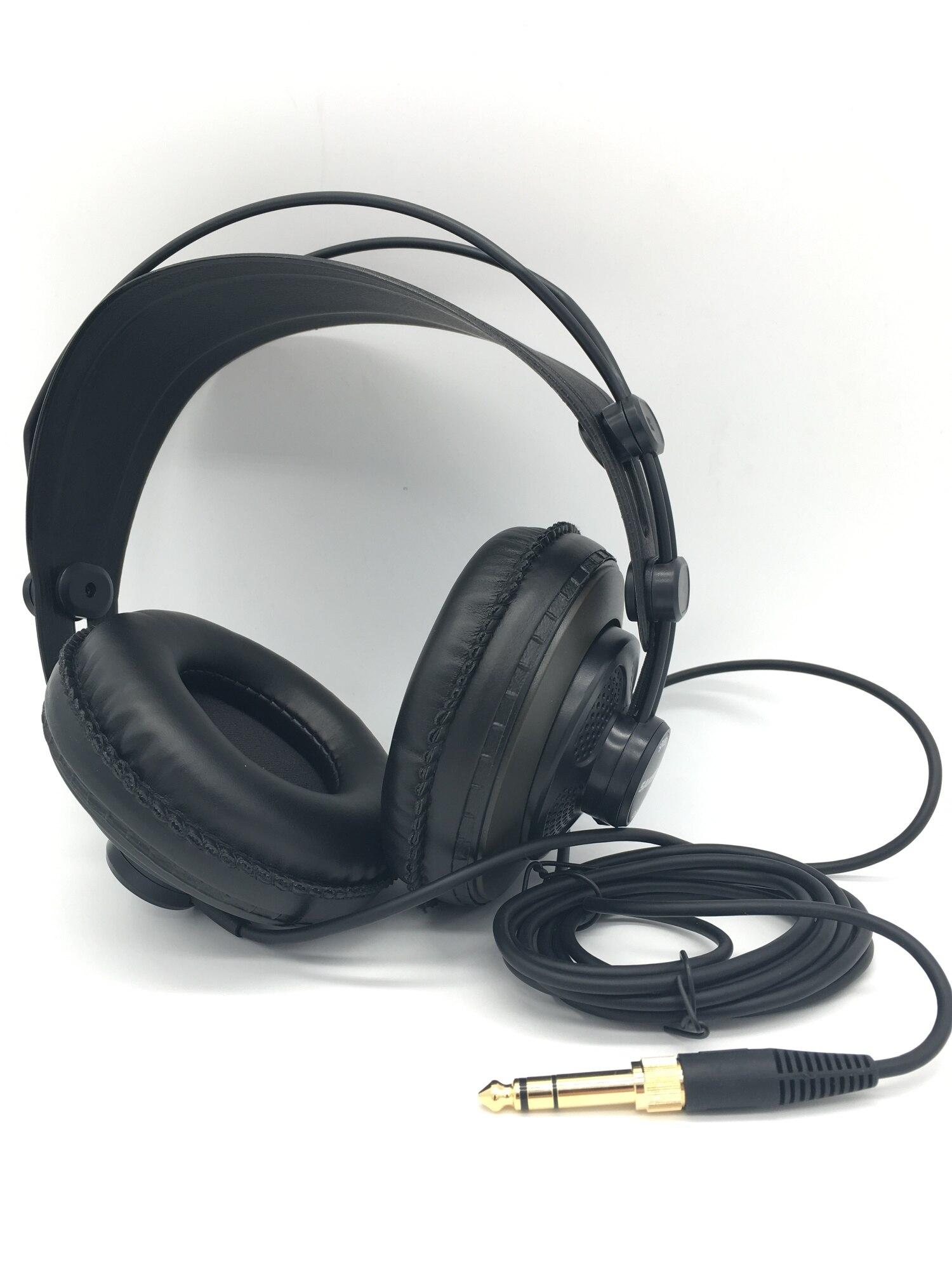 سماعة ستوديو شبه مفتوحة ، ديناميكية ، مهنية ، مع سدادات أذن جلدية ، لا تغليف التجزئة