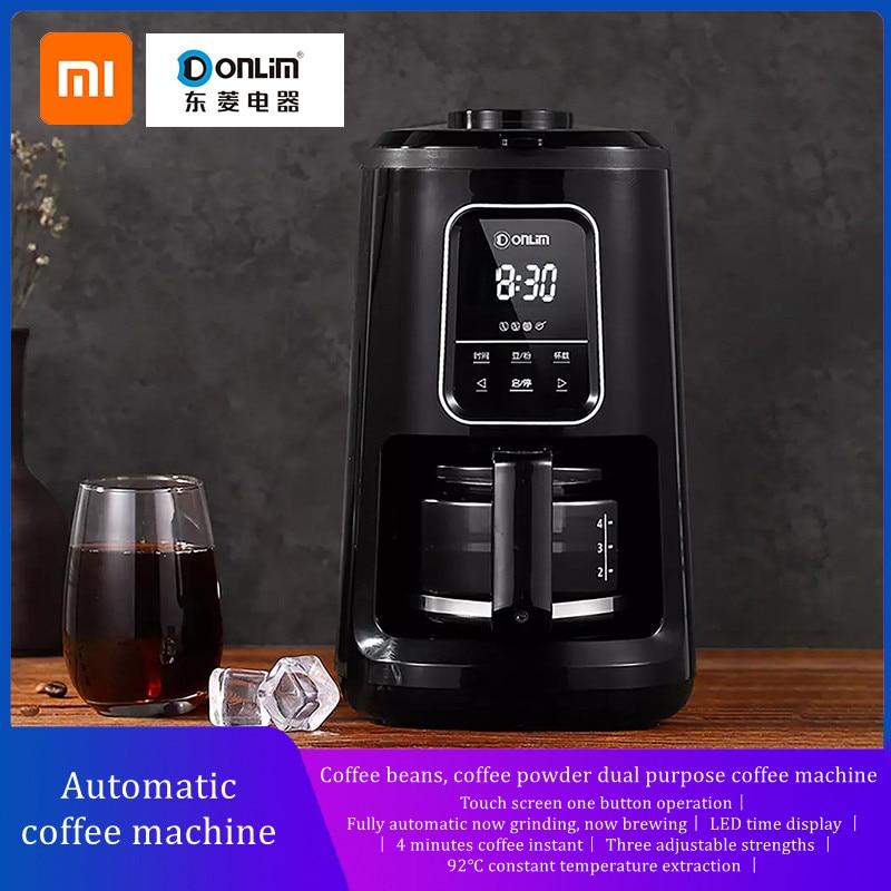 Автоматическая кофемашина XIAOMI YOUPIN DONLIM, кофейные зерна s, кофейный порошок, двухцелевая машина для эспрессо, кофейный порошок, кофейные зерна