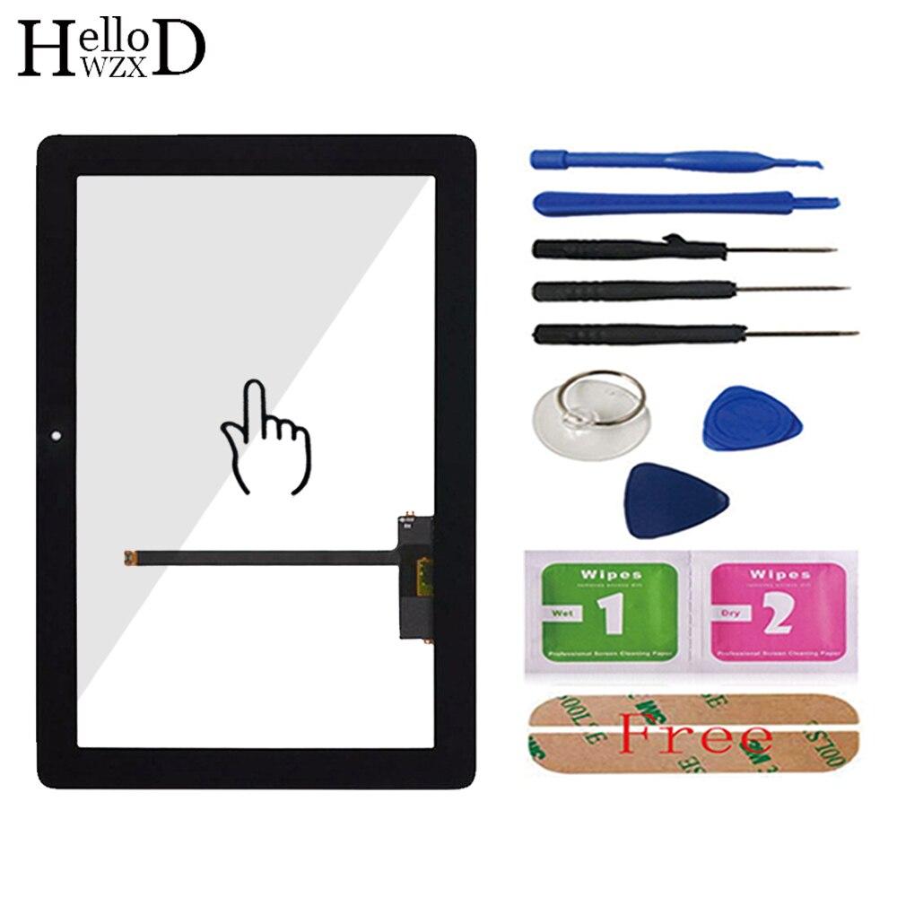 Sensor de lente del Panel del digitalizador de cristal de la pantalla táctil frontal de 10,1 para Huawei Mediapad 10 FHD S10-101 S10-101U S10-101W adhesivo