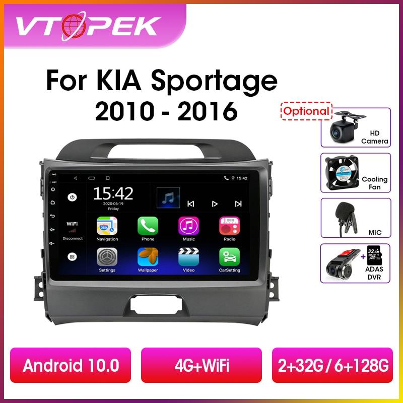 Vtopek-راديو السيارة 9 بوصة ، Android 10.0 ، DSP ، 4G ، WiFi ، نظام تحديد المواقع العالمي للملاحة ، مشغل فيديو ، وحدة مركزية لسيارات KIA Sportage 3 (2010-2016)
