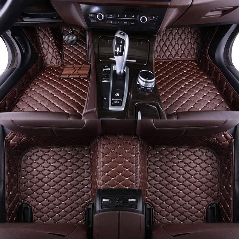 Leather Custom Auto car floor Foot mat For bmw f10 x5 e70 e53 x4 f11 x3 e83 x1 f48 e90 x6 e71 f34 e70 e30 waterproof accessories