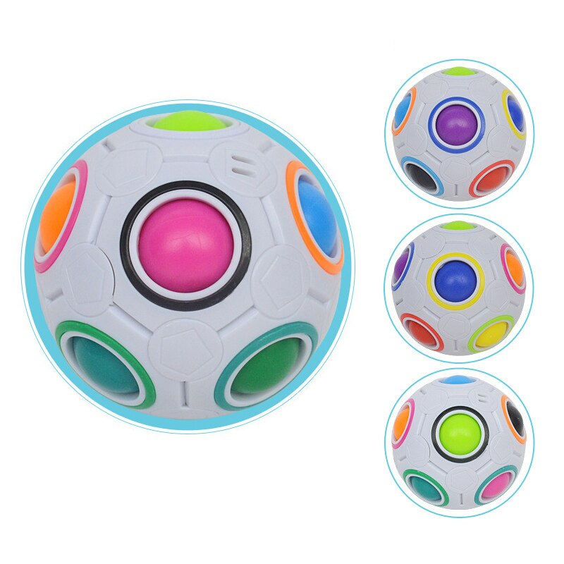 Fun Creative Magic Cube Ball Spherical Antistress Speed Rainbow Football Ball Montessori Toys For Children Stress Reliever Toy enlarge