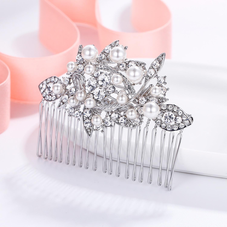 Tuliper accesorios para el cabello de boda peines para el cabello de novia horquillas de cristal para mujer adornos para el cabello pinzas para el cabello joyas pinzas коки