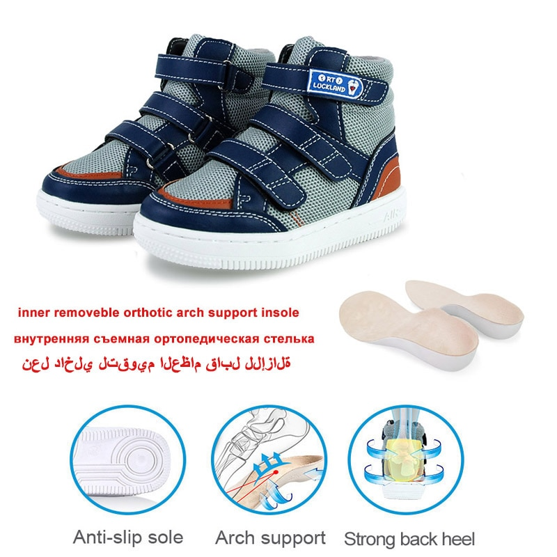 Boys Sneakers Kids Orthopedic Sport Shoes For Children Toddler Girls Summer Spring Black White School Casual Ankle Boots Size38 enlarge