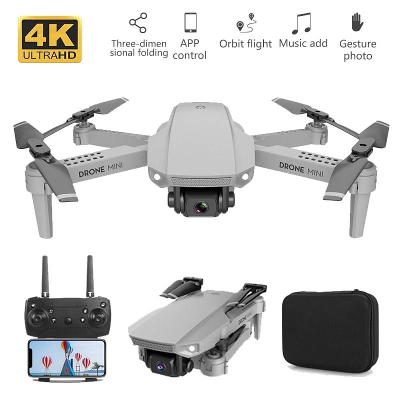 طائرة بدون طيار صغيرة E88 Rc 4k HD مع كاميرا مزدوجة ، FPV ، WiFi ، نقل في الوقت الحقيقي ، قابلة للطي ، كوادكوبتر ، RC ، 2020