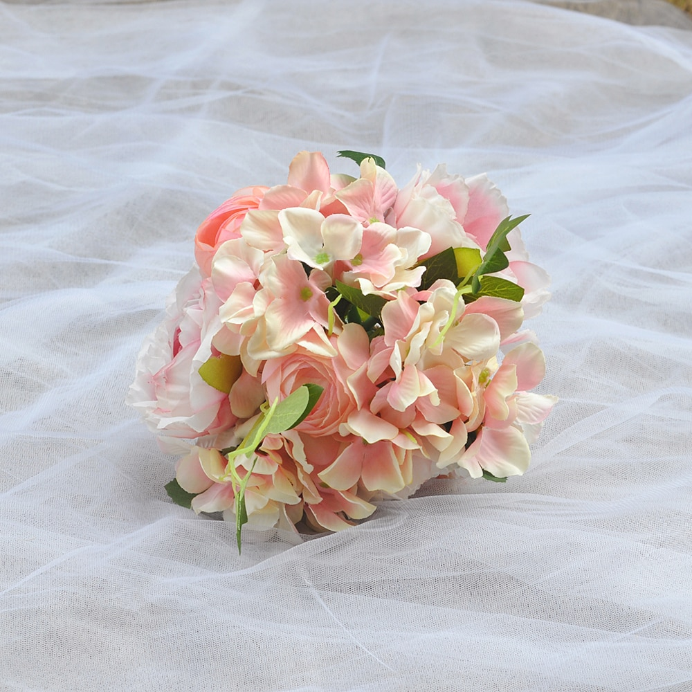 TRiXY F15 Luxury Wedding Flowers Bridal Bouquets Beautiful Bridesmaid Bouquet Pink Rose Artificial Flower Bouquets for Wedding недорого
