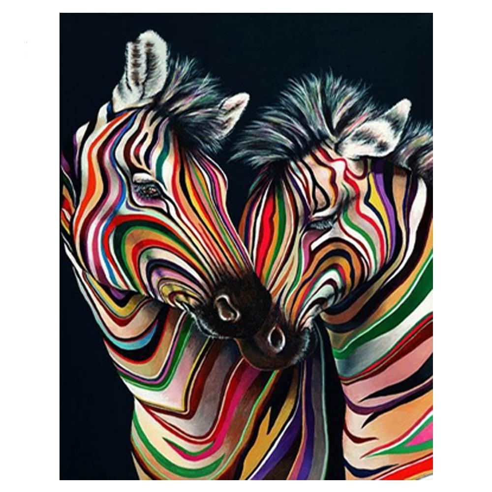 Daimond Painting Cross Stitch Color Zebra Diamond Embroidery Sale Pictures of Rhinestones Diamond Mosaic Full Pack