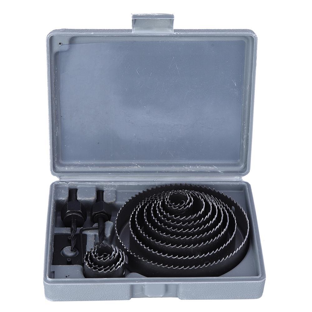 16Pcs Loch Sah Set Metall Schneiden Tool Kit Holz Loch Sah Kit 19-127mm Hartmetall Bohrer Bits mit Box