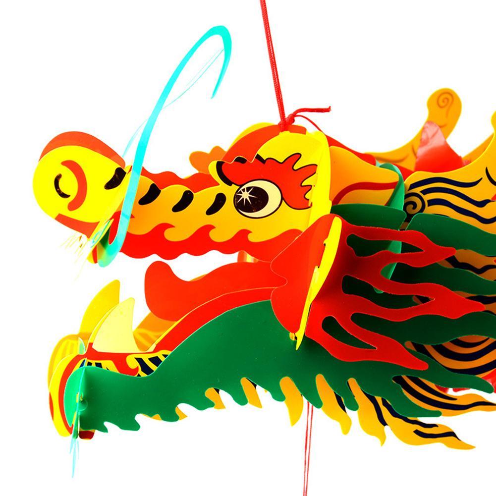 Китайское украшение, Новогодняя гирлянда с драконом, подвесное украшение, фонарь для драконов, лодок, фестиваль, торговый центр, супермарке...