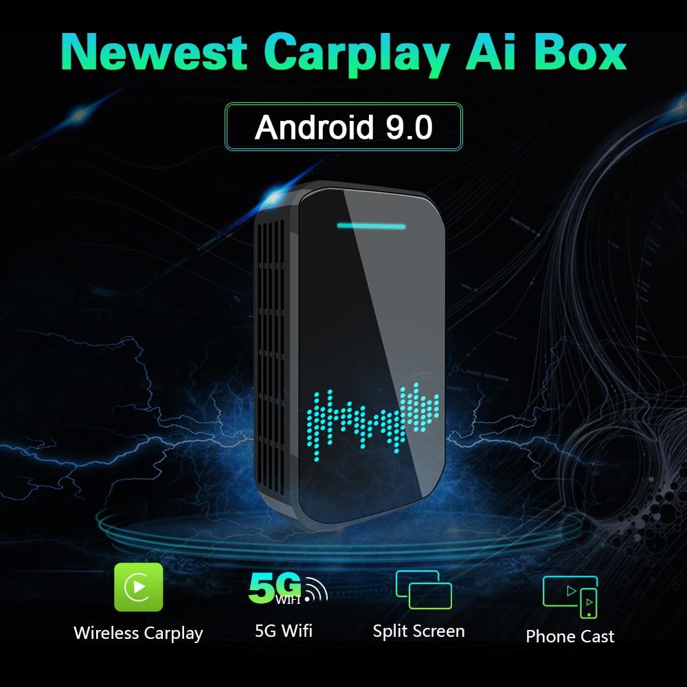 لاسلكي أبل Carplay Ai صندوق سيارة مشغل وسائط متعددة 4 + 32G مع أندرويد 9.0 دعم مرآة رابط ل ترموستات التبريد بالماء لسيارة أودي بنز