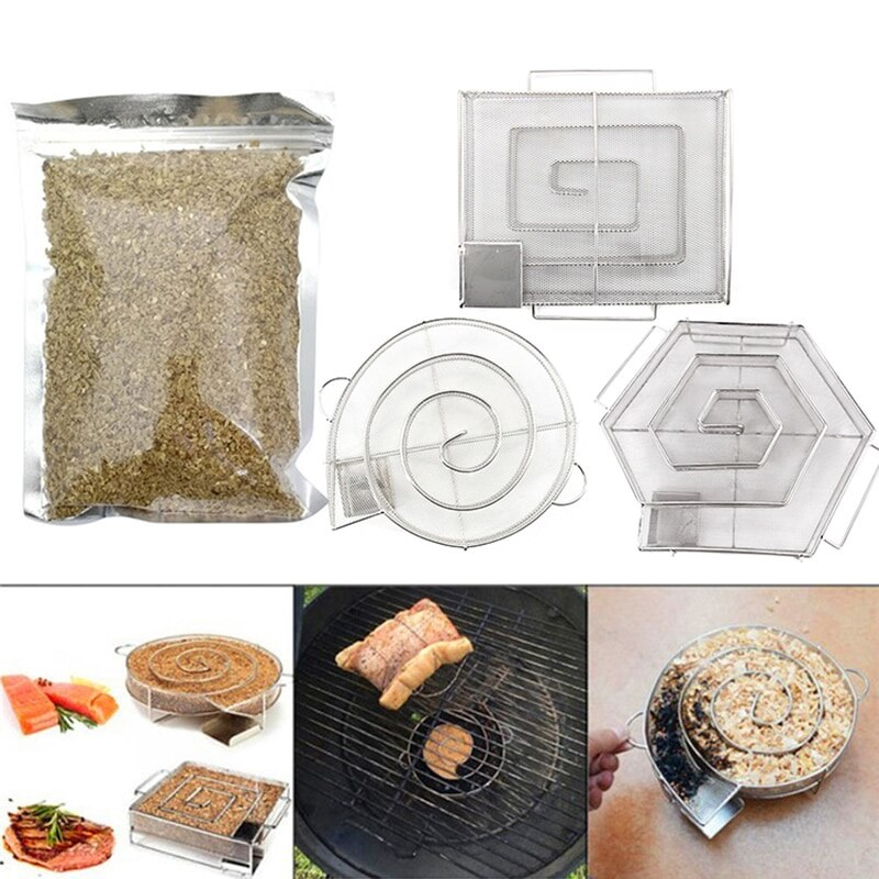 Kalten Rauch Generator BBQ Zubehör Edelstahl Grill Grill Raucher Lachs Speck Fisch Mini Apple Holz Chip Rauchen Box Kochen Werkzeug