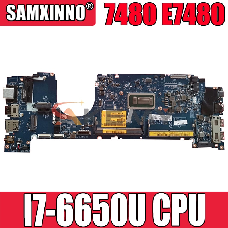 العلامة التجارية جديد I7-6650U لديل خط العرض 7480 E7480 اللوحة المحمول CAZ20 LA-E131P CN-0N480V N480V N4WX7 اللوحة 100% اختبار