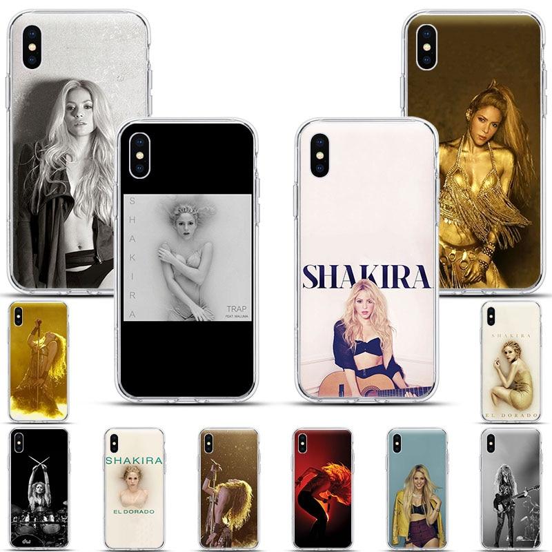 Shakira modo Columbia cantante suave claro caja del teléfono de silicona para iPhone 11 Pro X XR XS Max 7 7 6 6s Plus 5 casos de moda Funda