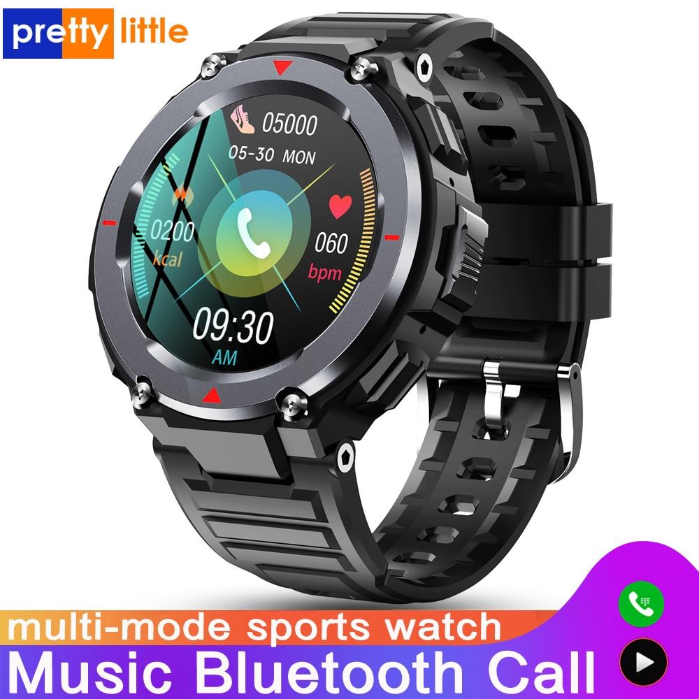 S-25 جديد بلوتوث دعوة ساعة ذكية الرجال متعددة وضع الرياضة في الهواء الطلق تشغيل الموسيقى مقاوم للماء Smartwatch سماع رصد معدل أندرويد IOS