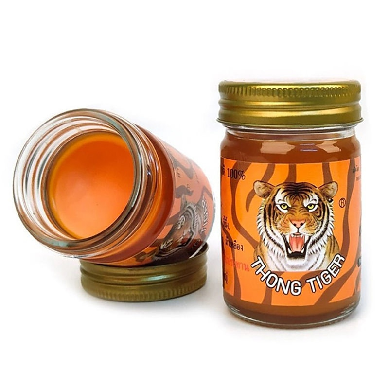 Thailand Tiger fat ointment arthritis muscle pain red plaque tiger fat medicine whole body massage antipruritic ointment