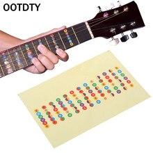 OOTDTY اكسسوارات الغيتار مقياس ملصق الرقبة الأصابع العفريت مجلس ملاحظة تعلم الممارسة
