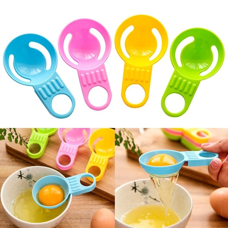 2pcs Egg Separator Egg Yolk Separation Egg Processing Essential Kitchen Gadget Food Grade Material For Home Family