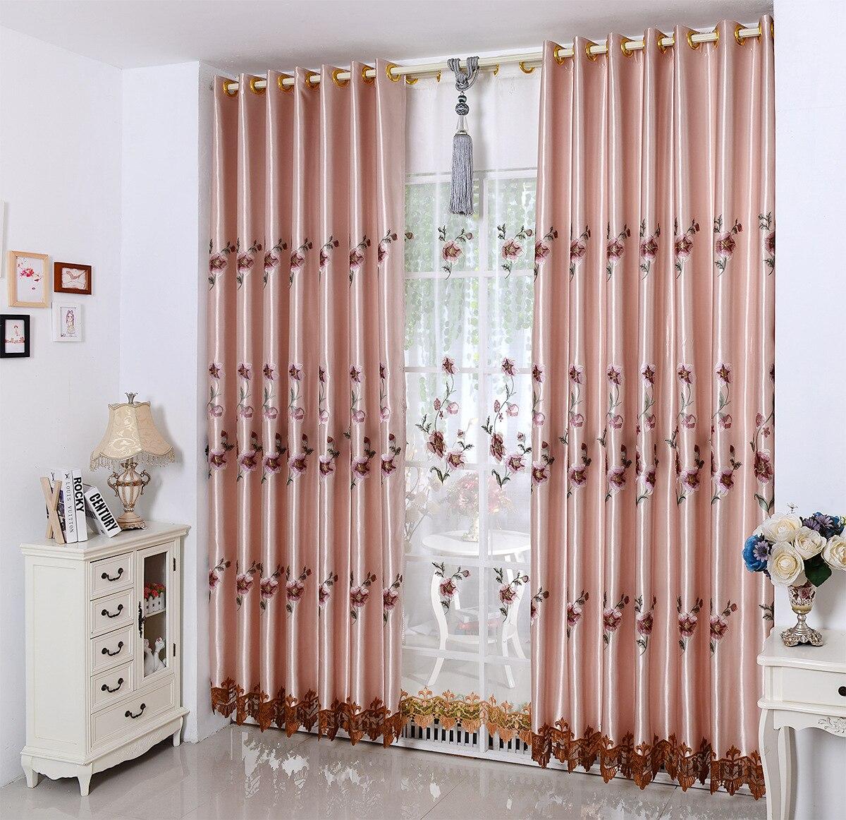 Cortinas bordadas solubles en agua para sala de estar y dormitorio, tela...