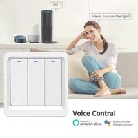 Commutateur tactile intelligent WiFi TUYA  1 2 3 gangs N   L  220-240V  bouton mural pour Alexa et Google Home Assistant  Standard ue