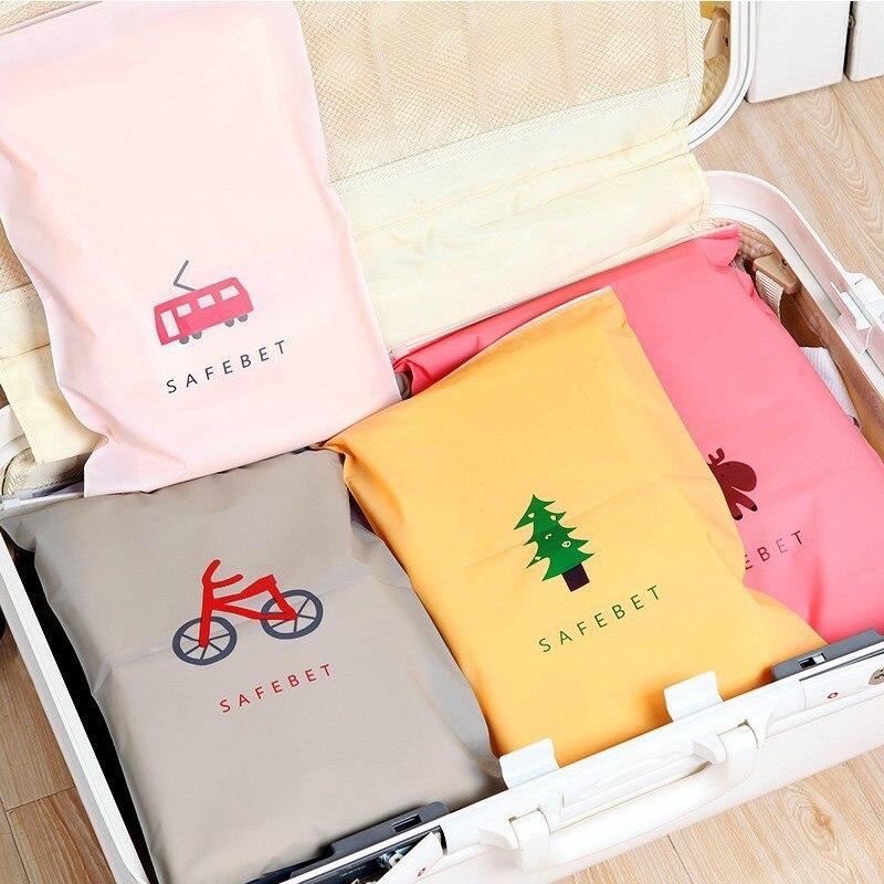 Nuevo CartoonTravel bolsas de almacenamiento organizador de cremallera bolsa para la ropa interior calcetines bolsa de almacenamiento de limpieza