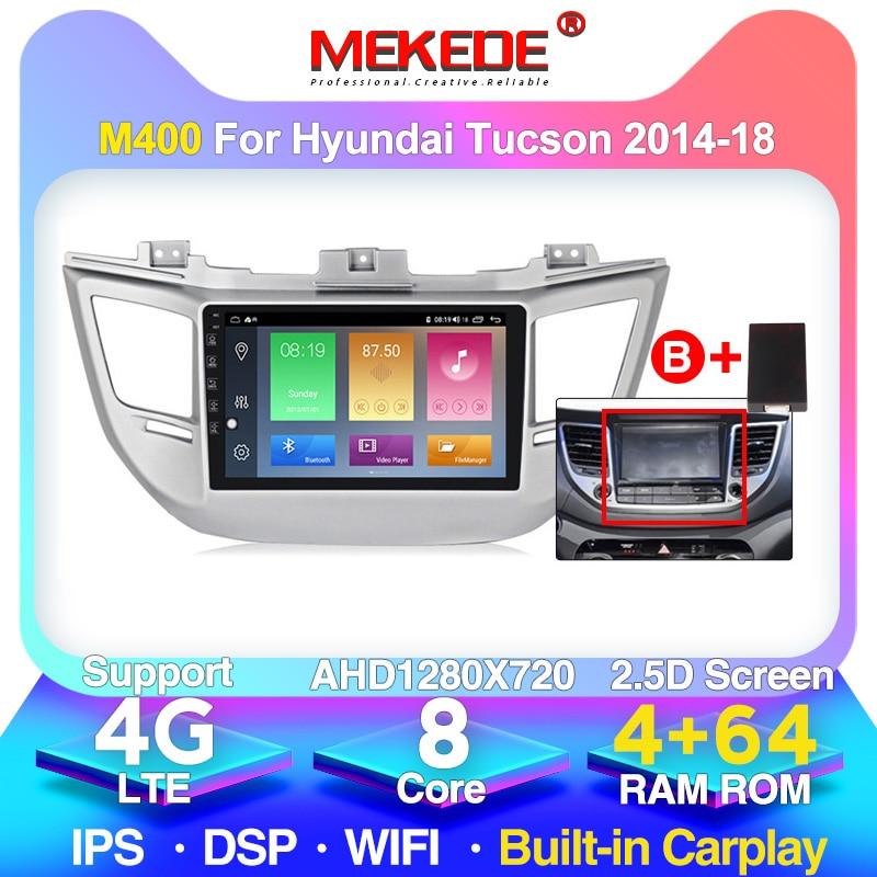 4G + 64G android 10,0 coche multimedia radio del coche para Hyundai Tucson/IX35 2016 2017 navegación gps 4G lte WIFI construido en carplayer