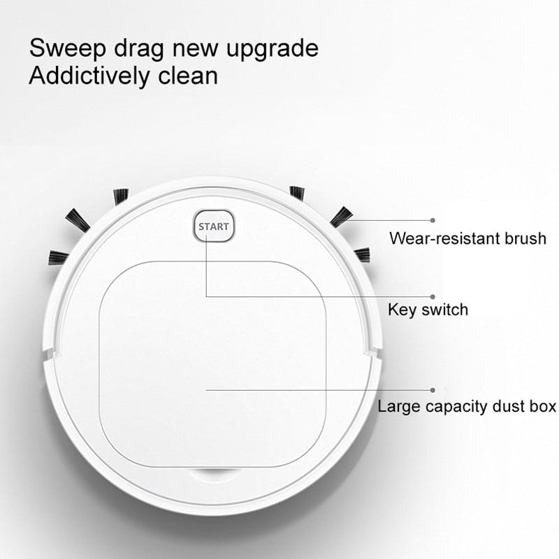 جهاز آلي لتنظيف الأتربة روبوت أوتوماتيكي ذكي كنس USB قابلة للشحن متعددة الوظائف الأنظف الجاف الرطب كنس أداة المنزلية