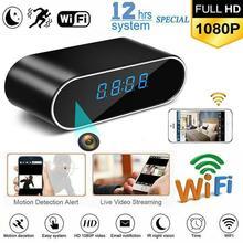 V380PRO HD 1080P kamera z zegarem bezprzewodowa kamera WIFI micro Cam IR Night Alarm kamera cyfrowy zegar wideo mała kamera Mini DVR tf card