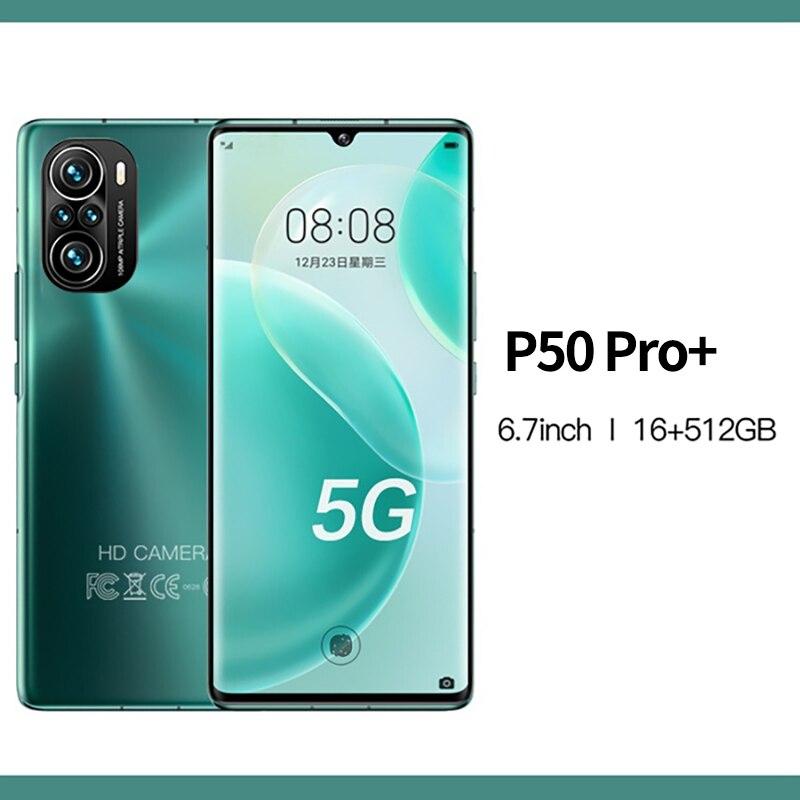 P50 Pro+ 5G Smartphone 6.7inch 48MP Quad Camera 16GB+512GB Mobile Phones Cellphone Global Version