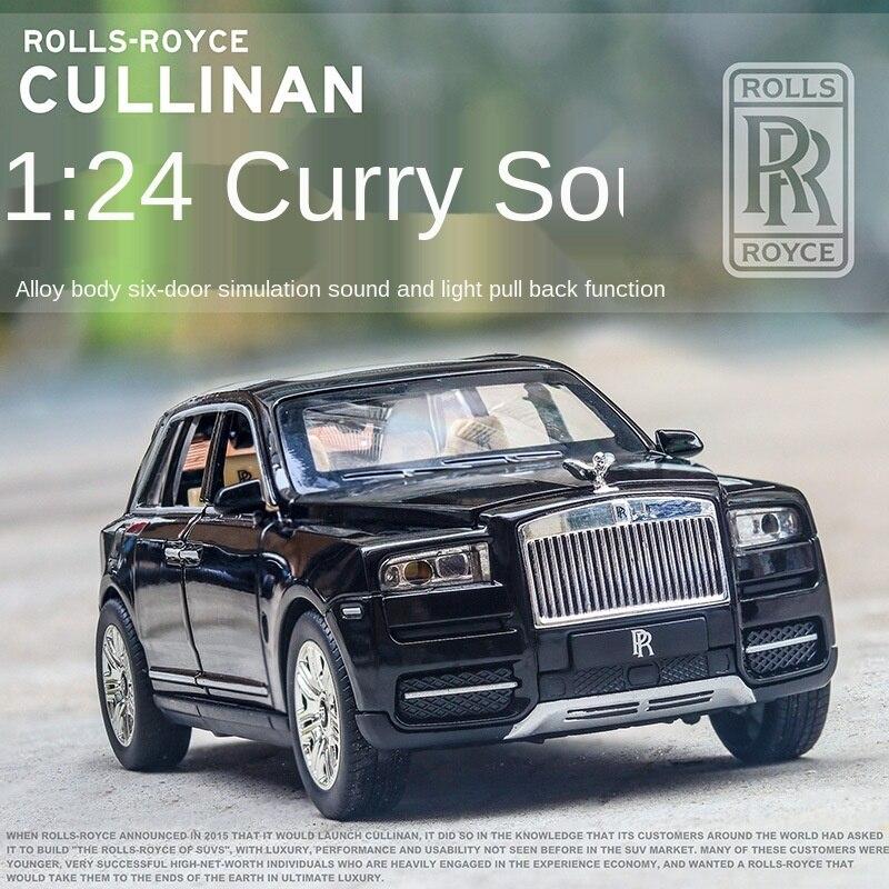 Модель 1/24 имитации каллинана из сплава, модель автомобиля, Детская акустическая Игрушечная модель спортивного автомобиля с возвратом, попу...