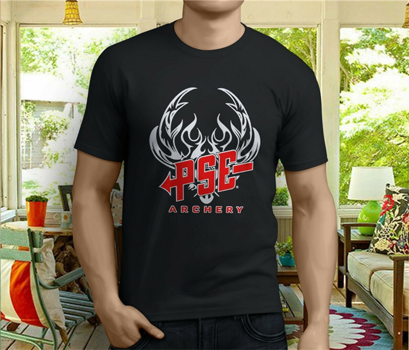 Nueva camiseta negra de arquería Pse para hombre, camiseta Popular de talla S-3XL