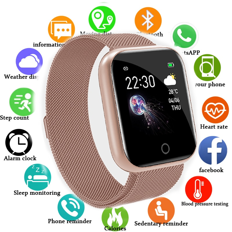 I5 relógio inteligente pedômetro feminino masculino smartwatch esporte de fitness rastreador para apple iphone android ios vs b57 iwo 8 9 10 11