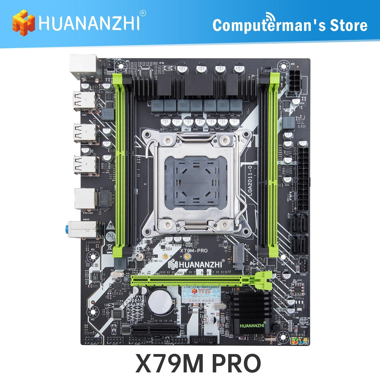 Материнская плата HUANANZHI X79M PRO X79, материнская плата Intel XEON E5 LGA2011, все серии DDR3 RECC, не ECC, поддерживает M.2, USB3.0, SATA