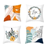 nordic floral printed pillow case cushion cover for sofa diy printed pillow chair car cushion christmas home decoration