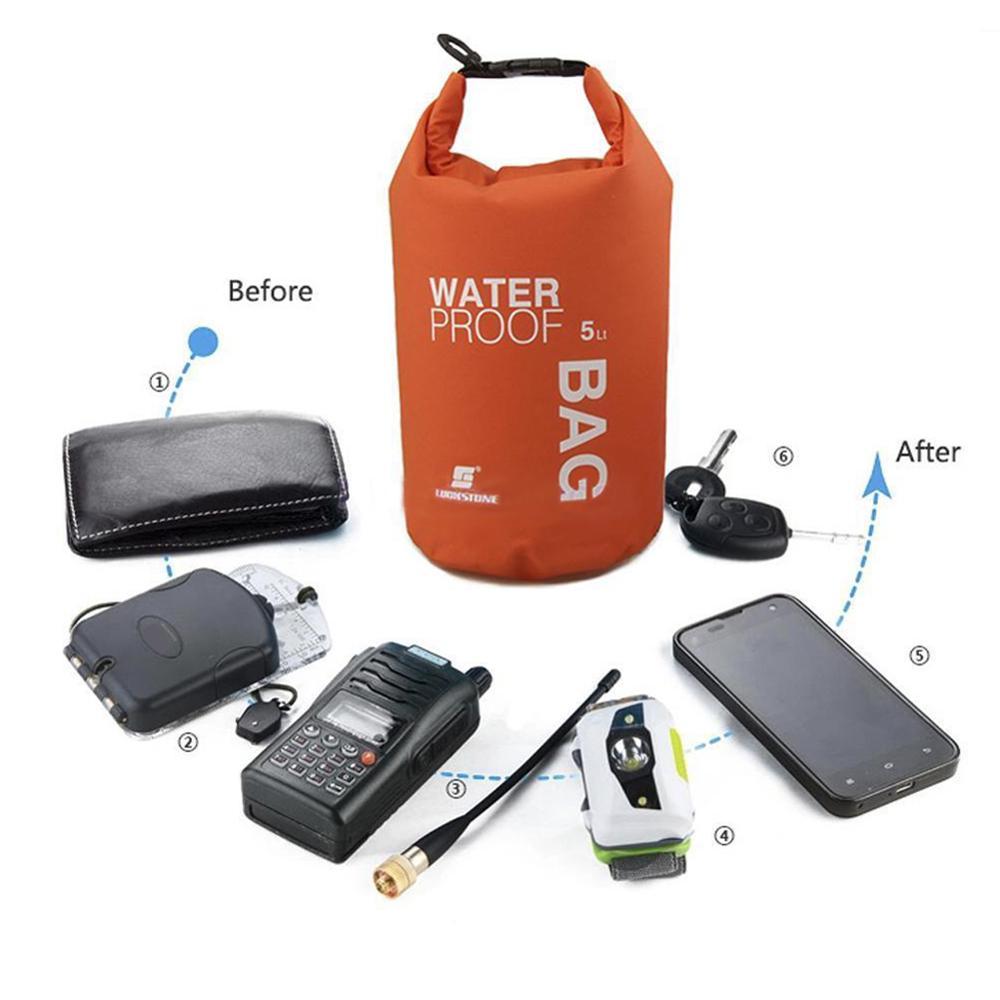 5L impermeable natación seco bolsa bolso ultraligero teléfono Cámara bolsa de almacenamiento para Camping flotante kayak a la deriva