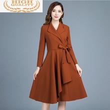Vogue Women's Office Windbreaker Lady Trench Coat for Women Korean Elegant Long Coat Spring 2021 Wom