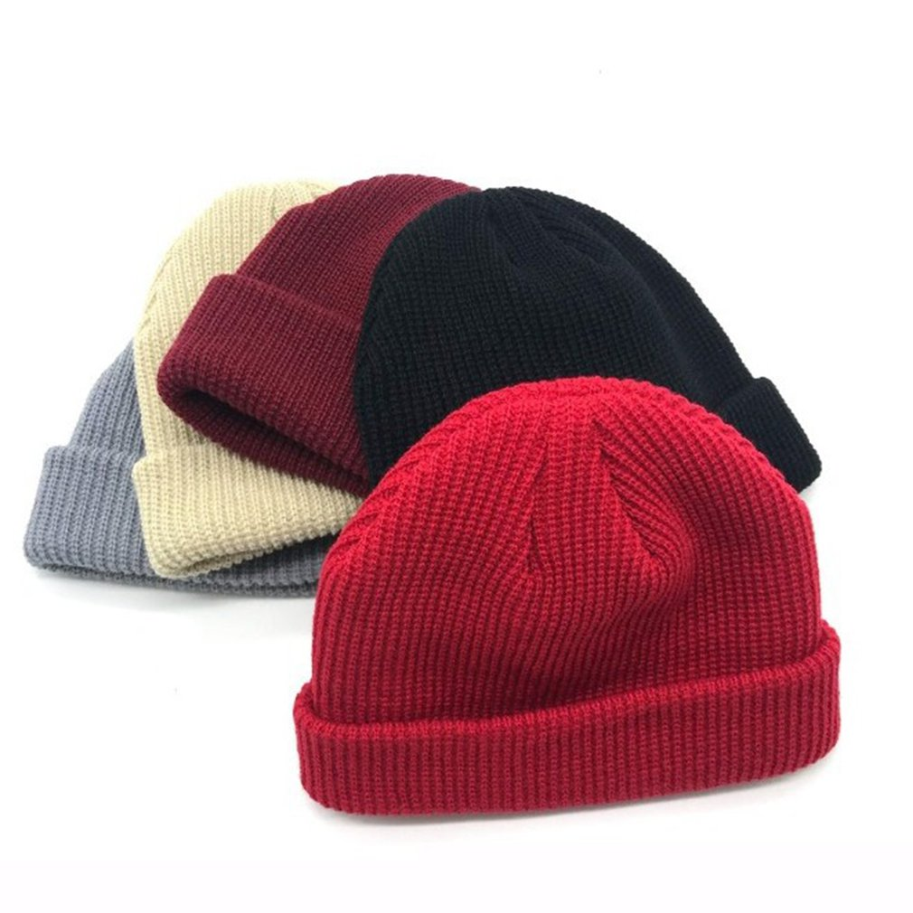 Knitted Melon Short Wool Hat Cap Dome Street Dance For Boys And Girs Hat Casual Winter Hat NEW Hair