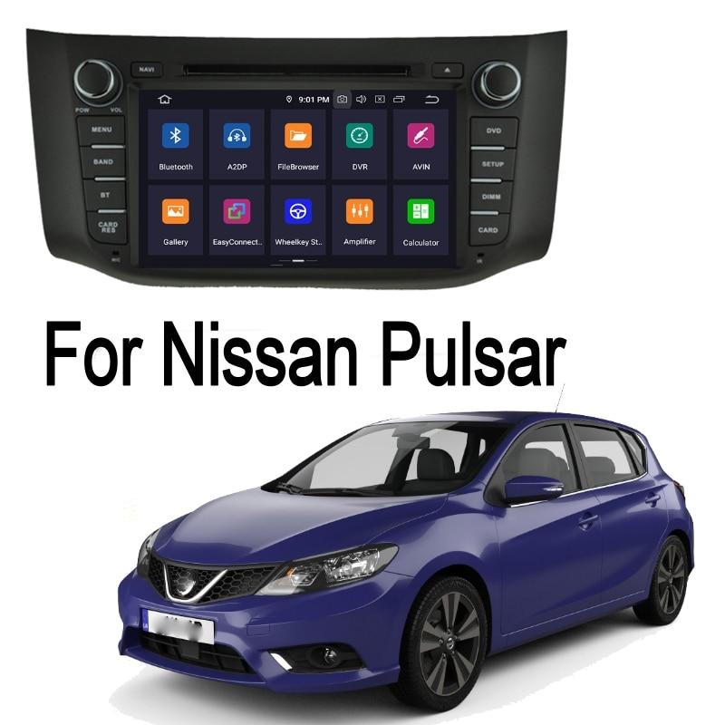 ZaiXi para Nissan Pulsar 2012 ~ 2014 2 DIN Android GPS sistema de navegación Multimedia Bluetooth amplificador de Radio HD pantalla