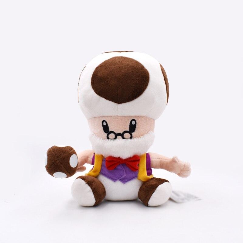 10 pulgadas 25cm Luma suave hongo viejo hombre Peluche figuras regalo para niños Luigi muñeco de Peluche