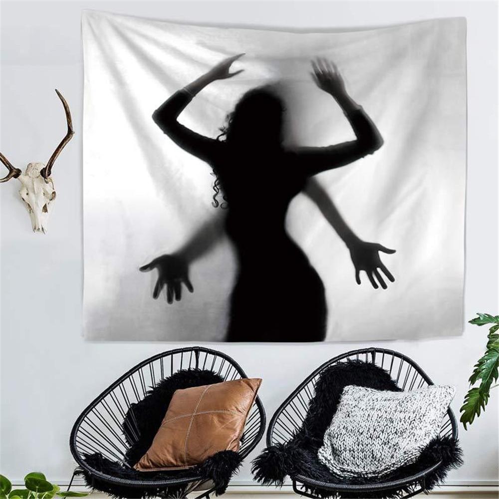 Tapiz de pared de sombra para mujer sexi, Impresión de tela de poliéster, toalla de playa, tapiz colgante de pared para el hogar