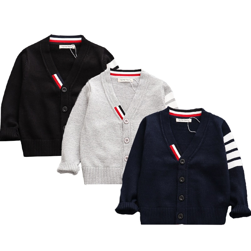 Childrens wear boys and girls knit cardigan sweater wear children cotton baby newborn clothes jacket sweater